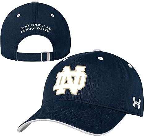 pick up amazon buy online Notre Dame Fighting Irish Under Armour NCAA Structured Adjustable ...