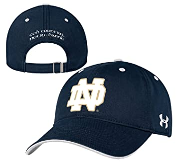 official photos 68ac4 1c729 Notre Dame Fighting Irish Under Armour NCAA Structured Adjustable Hat - Navy,  Baseball Caps - Amazon Canada