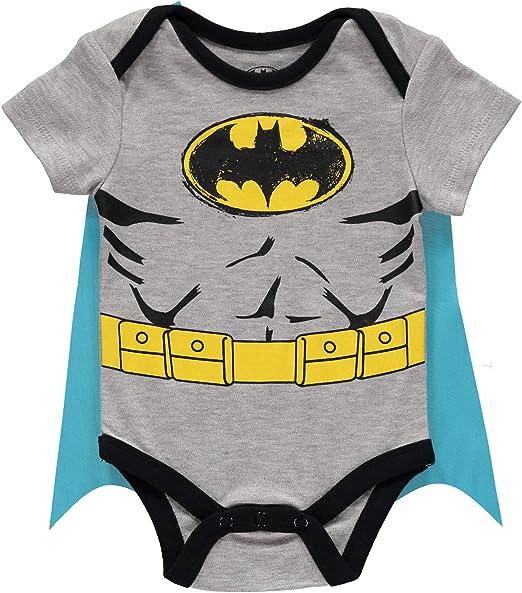 Batman Superman Onesies Bodysuit with Detachable Cape, 3-6 Months