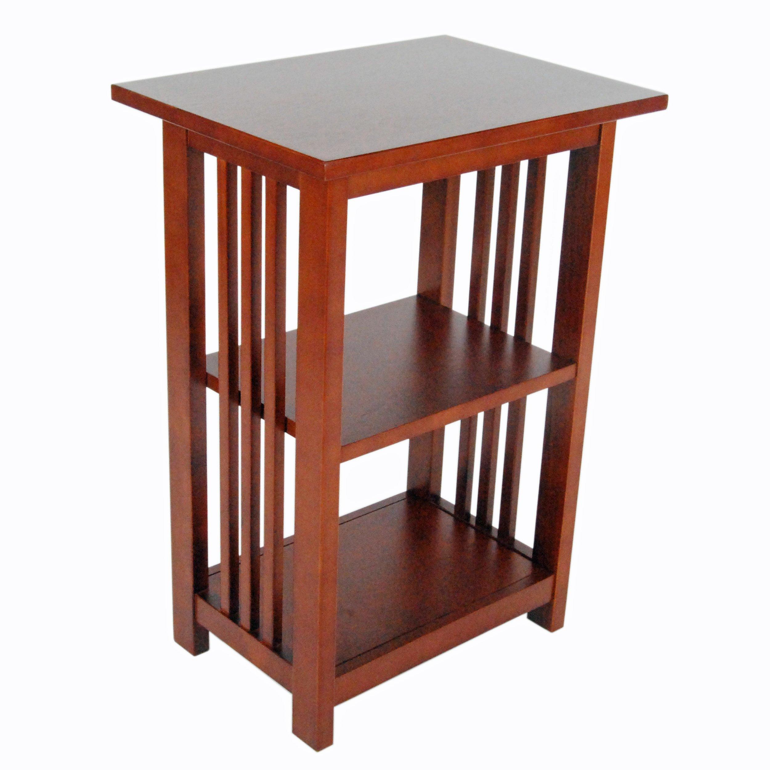 Alaterre Artisan 2-Shelf End Table, Cherry