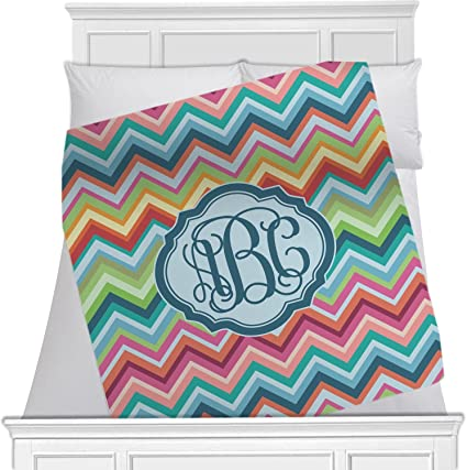 96fdc9f3b7bb Image Unavailable. Image not available for. Color: RNK Shops Retro Chevron  Monogram Fleece Blanket ...