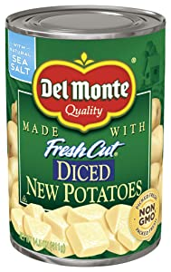 Del Monte Canned Fresh Cut Diced New Potatoes, 14.5-Ounce Cans (Pack of 12)
