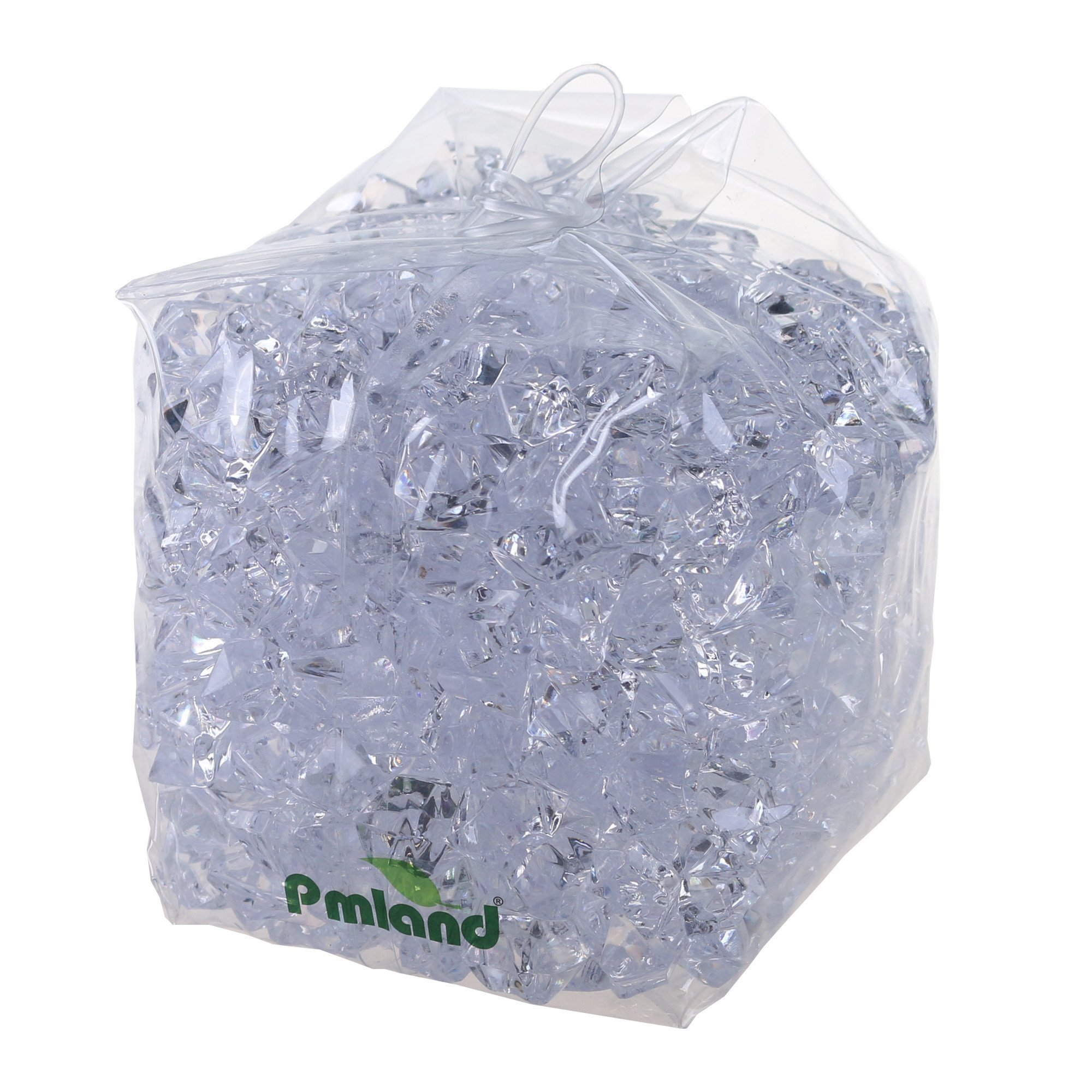 PMLAND Acrylic Ice Rock Cubes 3 Lbs Bag, Vase Filler or Table Decorating Idea- Clear by PMLAND