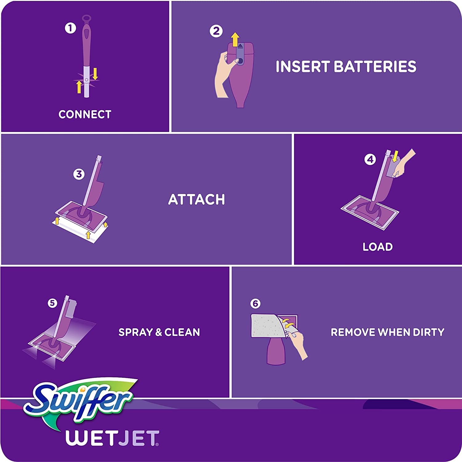 Swiffer wetjet wood floor cleaner - Amazon Com Swiffer Wetjet Hardwood Floor Cleaner Spray Mop Pad Refill Multi Surface 24 Count Packaging May Vary Prime Pantry