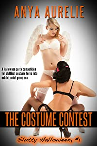 The Costume Contest (A Halloween party competition for sluttiest costume turns into exhibitionist group sex) (Slutty Halloween Book 1)