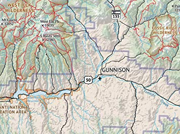 Amazon.com: The Hikers Map of Colorado - Póster de pared ...