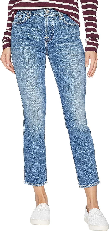 2da924fe2dae Amazon.com: 7 For All Mankind Women's Edie Cropped Straight Leg Jean, Desert  Oasis 32: Clothing