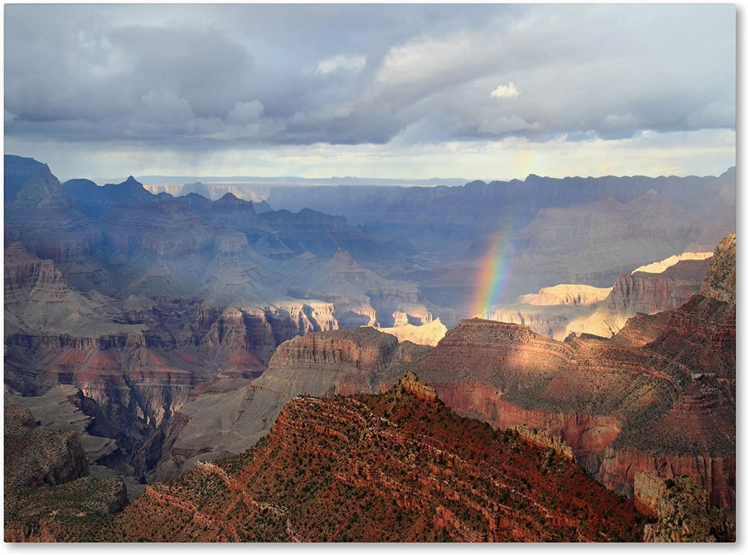 Amazon Com Grand Canyon Rainbow By Pierre Leclerc Work 10 By 19 Inch Canvas Wall Art Prints Posters Prints
