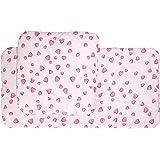 Pinolino 27350-7 - Ropa de cama para cochecito de juguete (2 piezas), diseño de corazones, color rosa