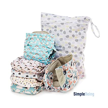 Cotton Baby One Size Cloth Diaper Cover Reusable Pocket Nappy Newborn Adjustable