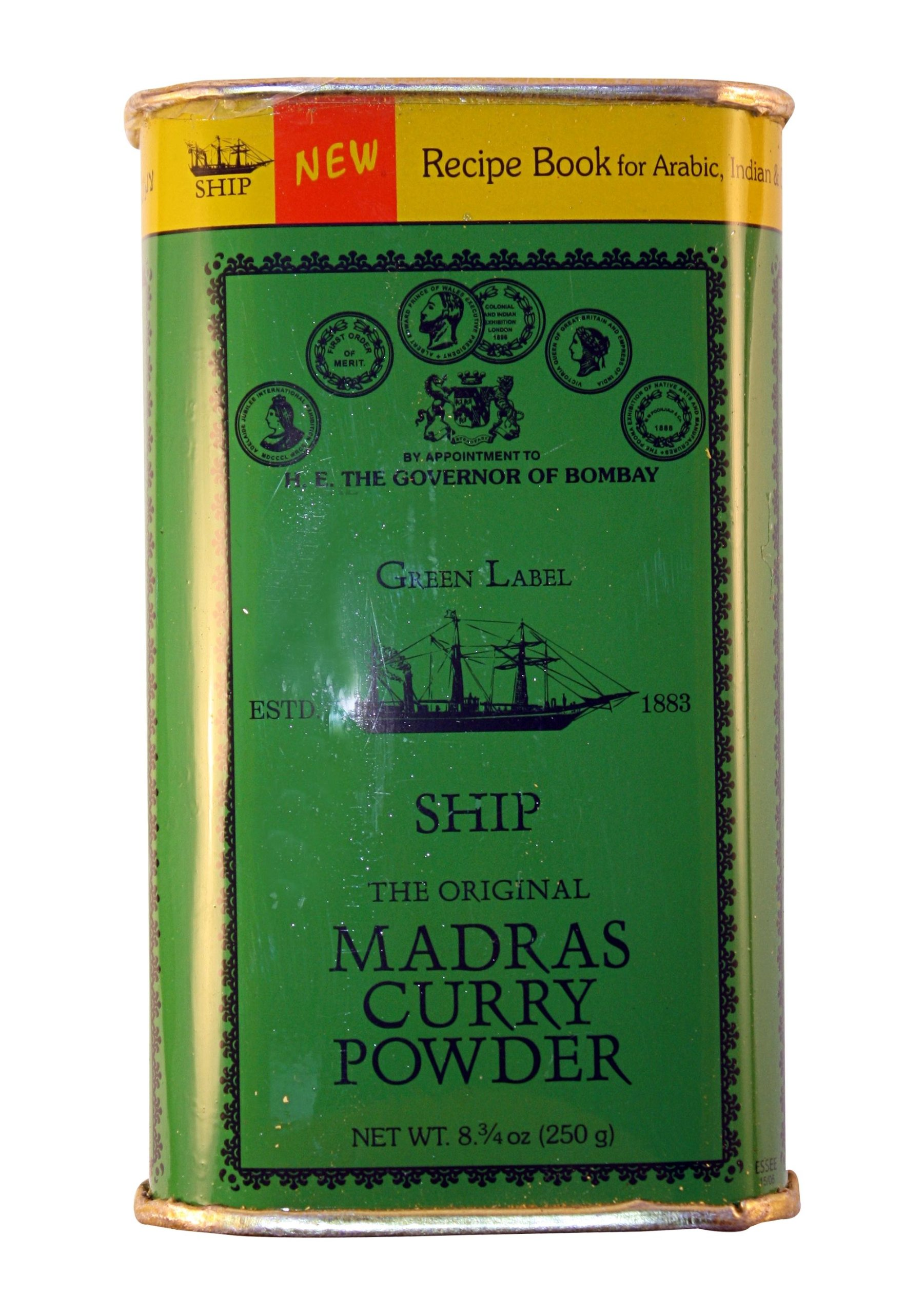 Ship Madras Curry Powder, 250-Gram Packages (Pack of 4)