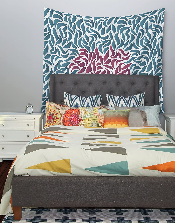 Kess InHouse Nick Atkinson Desire Maroon Teal Wall Tapestry 51 X 60