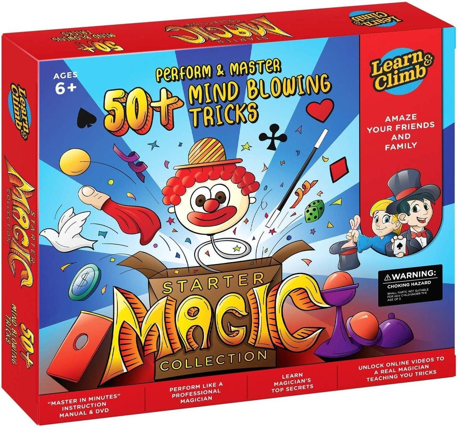Learn & Climb Magic kit Set for Kids - 50+ Magic Tricks. Clear Instruction Manual & DVD: Toys & Games