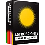 "Astrobrights Mega Collection Colored Paper, 8 ½ x 11, 24 lb/89 gsm, ""Retro"" 5-Color Assortment, 625 Ct. (91685)""Amazon Exclus"