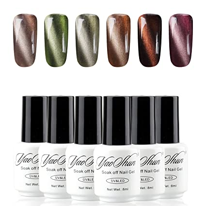 Y & S magnético esmaltes de uñas en gel 8 ml UV LED Gel Polish 6pcs ...