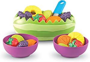 Learning Resources New Sprouts Fresh Fruit Salad Set, Pretend Play Food, 18 Piece Set, Ages 18 mos+