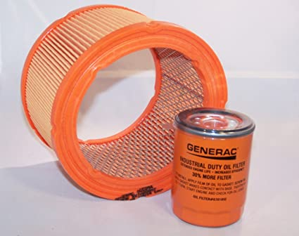 Generac Air Filter 0G5894 and Generac/Uninversal Generator Parts  Replacement Oil Filter Sets for 070185B, 070185D, 070185E and 070185ES (Air  and Oil