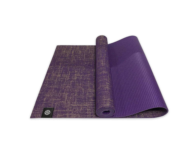 IcyFit 2 in1 - Colchoneta de yoga reversible con correa de ...