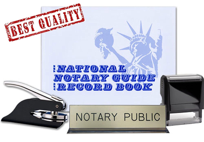 公証人ジャーナル、セルフInkingスタンプ、ブラックポケットシールEmbosser, and notary publicデスクSignバンドル| Nevada   B07FB5Y3CS