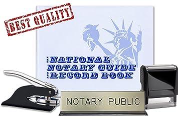 Amazon Com Notary Journal Self Inking Stamp Black Pocket