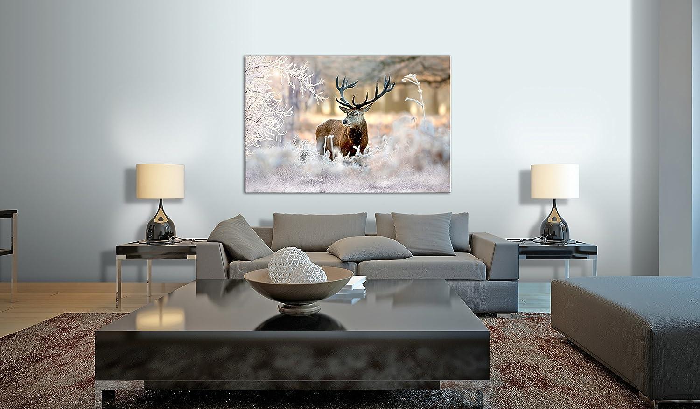 murando Natur Tier Landschaft g-B-0049-b-a Bilder Hirsch 90x60 cm Vlies Leinwandbild 1 TLG Kunstdruck modern Wandbilder XXL Wanddekoration Design Wand Bild