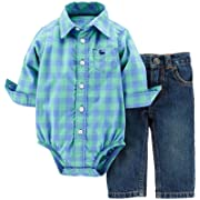 Carter's Baby Boys' 2 Piece Layette Set (Baby) - Blue Plaid - 24 Months