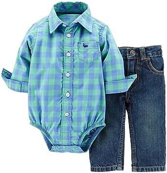 40966b1c9 Amazon.com: Carters Baby Boy 2-Piece Bodysuit & Denim Pant Set: Clothing