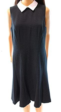 8bccac124412 Lauren Ralph Lauren Womens Delilah Polka Dot Textured Party Dress B W 14   Amazon.co.uk  Clothing