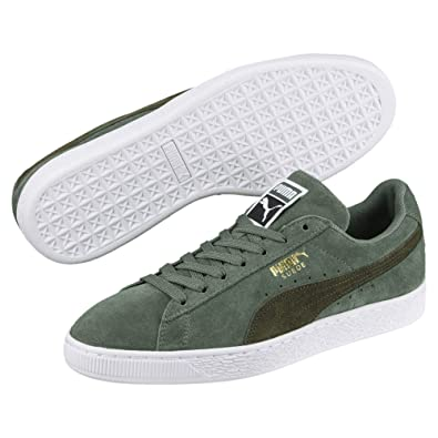 3a57fc0d46d Puma Unisex Adults  365347 Low-Top Green Size  36 EU