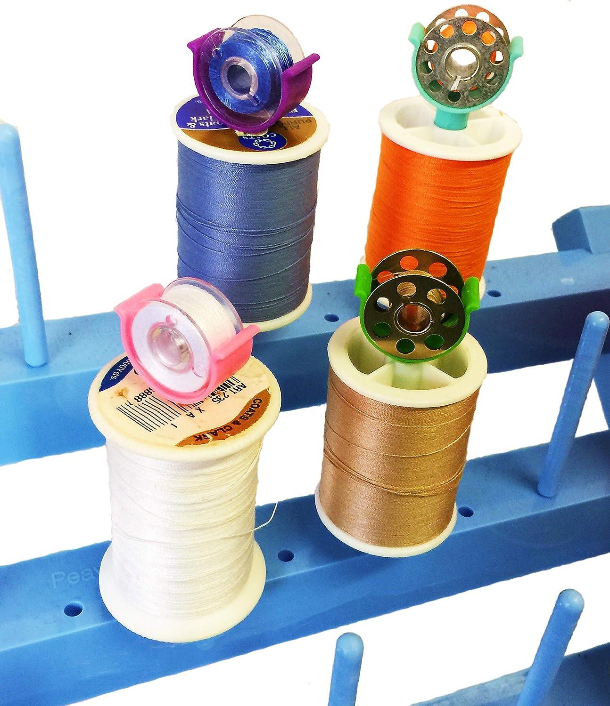 Bobbins Case Thread Organizer Box Only Bobbin Holder Bobbins Spool Storage Box Holds 44 Bobbins and Sewing Thread Spool Compatible with Brother丨Janome丨Babylock丨Singer丨Kenmore Sewing Machine