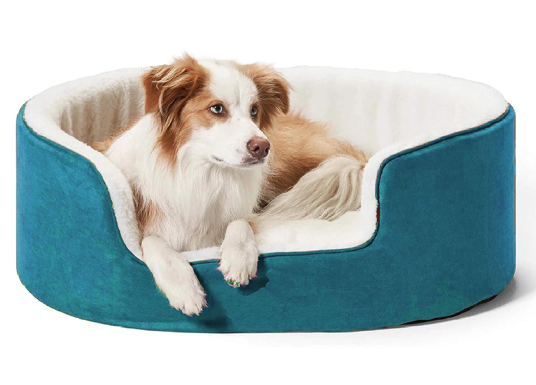 Petslover Warm Fleece Winter Beds Round Shape Reversible Ultra Soft Ethnic Designer Bed