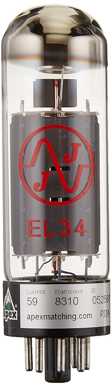 JJ Electronics T-EL34-JJ-MP Vacuum Tube 6CA7 Pentode Matched, Pair