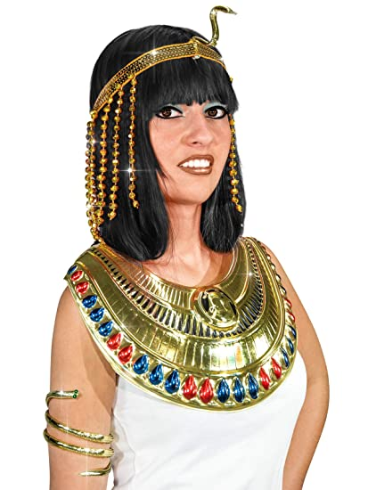 Generique - Cinta Lentejuelas Serpiente egipcia Dorada Mujer