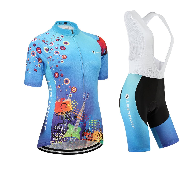 Cycling Jersey Setレディース半袖( S ~ 5 X L、オプション:よだれかけ、3dパッド) n232 B01BX3E2WE (General pad)(Bust 43-45inchs)|種類: セット(ホワイト前掛け) 種類: セット(ホワイト前掛け) (General pad)(Bust 43-45inchs)