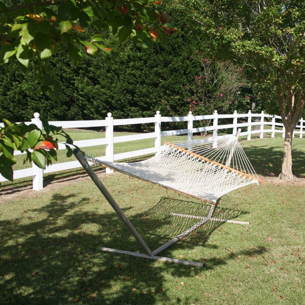 amazoncom pawleys island deluxe cotton rope hammock patio lawn u0026 garden - Pawleys Island Hammock