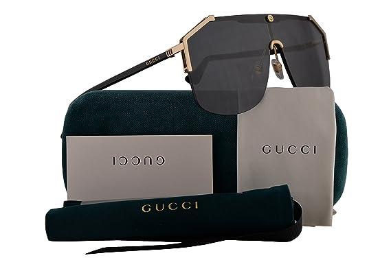 b1d8c3db9e Gucci GG0291S Sunglasses Gold Black w Grey Lens 99mm 001 GG0291 S GG 0291 S  GG 0291S  Amazon.co.uk  Clothing