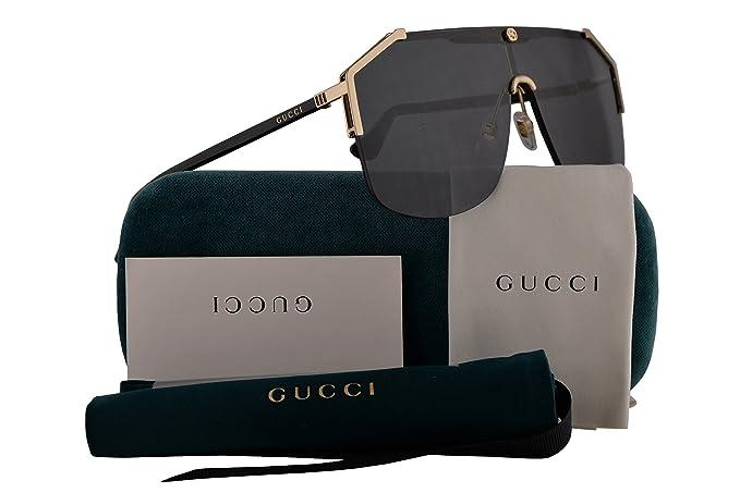 e8073119cd Gucci GG0291S Sunglasses Gold Black w/Grey Lens 99mm 001 GG0291/S GG ...