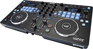 Gemini GMX Series Professional Audio DJ Multi-Format USB, MP3, WAV and DJ Software Compatible Media Controller System with Touch-Sensitive High-Res Jog Wheels,Black