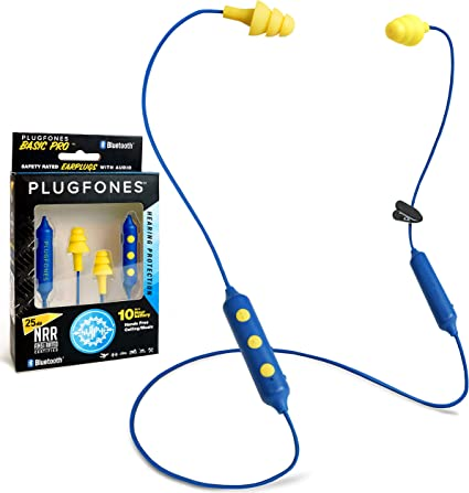 Plugfones Yellow 2-Pack EARBUDS EARPLUGS HEADPHONES SILICONE Comfortable
