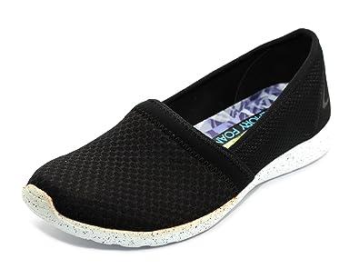 be27e625fd89 Skechers Girls Black White Stardust Sure Bet Shoes  22804  - UK 2 EU ...