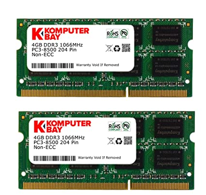 Komputerbay Módulos De Memoria So Dimm Para Apple 2 X 4 Gb Ddr3 204 Pines 1066 Mhz Pc3 8500 Semiconductores Hynix