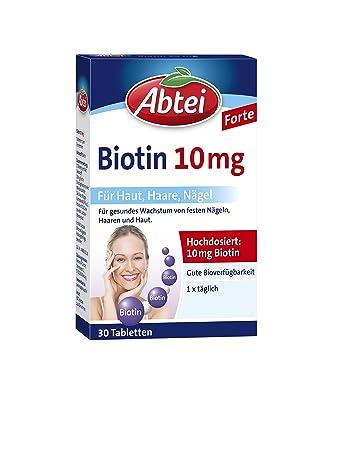 Abtei Biotin 10 Mg 30 Stück 1 Er Pack 1 X 22 G Amazonde