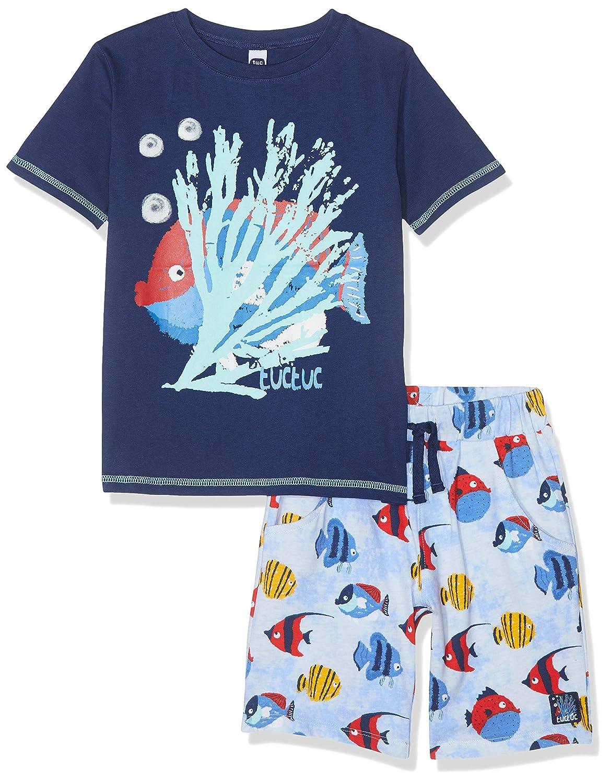 Tuc Tuc Camiseta+Bermuda Punto Peces Ni/ño Arrecife De Cora Completino Bambino