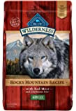 Blue Buffalo Wilderness Rocky Mountain Recipe High Protein Grain Free, Natural Adult Dry Dog Food, Red Meat