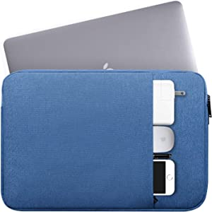 "14-15 Inch Waterproof Laptop Sleeve Bag Protective Case Compatible HP Chromebook 14/HP Stream 14,Acer Aspire 1 14""/Acer Swift 3,ASUS Dell Lenovo Toshiba LG Samsung Acer Chromebook 14 Notebook Bag,Blue"