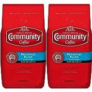 Community Coffee Breakfast Blend Medium Roast Premium Ground 32 Oz Bag (2 Pack), Medium Full Body Smooth Bright Taste, 100% Select Arabica Coffee Beans