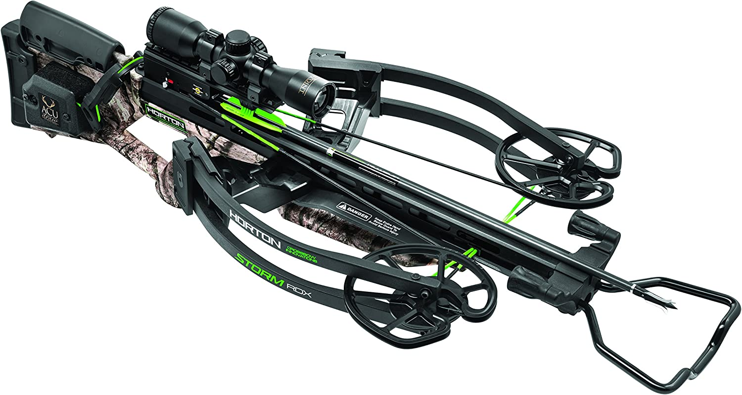 HORTON CROSSBOW INNOVATIONS NH15001-7522 Storm RDX Premium Package with ACUdraw, One Size, Mossy Oak Treestand Black