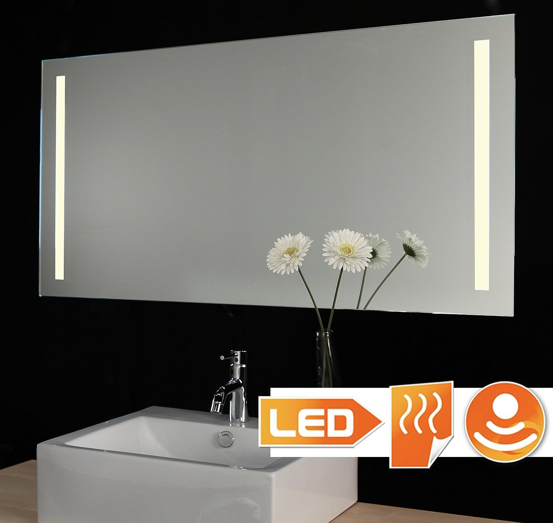 Badspiegel LED beleuchtet (Hi-Power) mit Sensor Dimmer Schalter und ...