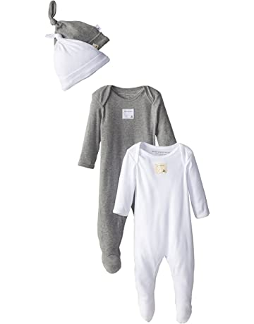 9e9d6779b Burt's Bees Baby - Unisex Romper and Hat Set, One Piece Jumpsuit and Beanie  Set