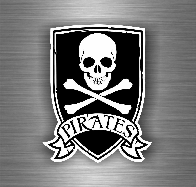Autocollant sticker biker motard voiture moto pirates pirate drapeau tuning cheap